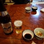太閤寿し - ほろ酔いセット私はビール、いかなごのシンコ