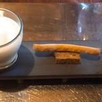 103284907 - 菊芋のスープ、テリーヌ、オムレツ