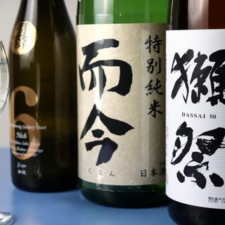 希少な日本酒&焼酎をワイングラスで満足ゆくまで…