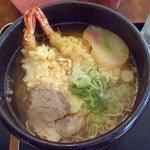 レストラン若葉 - 天ぷらラーメン;基本は塩味です @2011/08/19