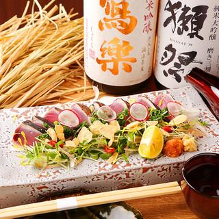 藁の香りが素材の風味と旨味を引き立てる『名物藁焼き』!!