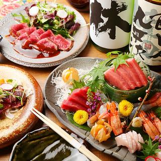 季節の食材と鮮度にこだわった海鮮メニューの数々