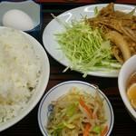 松ちゃんラーメン - A定食(焼肉(しょうが焼き))大盛りはサービス