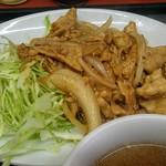 松ちゃんラーメン - 焼肉(しょうが焼き)は程よい味つけ