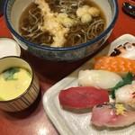 誠寿司 - えび天そば寿司セット  980円