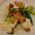 羊の家 - 赤魚のムニエル 季節の野菜添え
