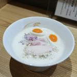 麦の道 すぐれ - 料理写真:2019年3月再訪:名古屋コーチン泡白湯 + 味付け玉子☆☆