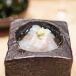 鮨 由う - 青森県産平目、煎り酒