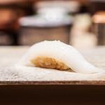 鮨 由う - アオリイカ 塩、酢橘