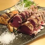熟成魚と日本酒と藁焼き 中権丸 - 名物藁焼き2種盛り