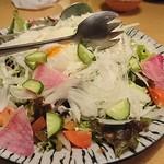 熟成魚と日本酒と藁焼き 中権丸 - 温玉シーザーサラダ