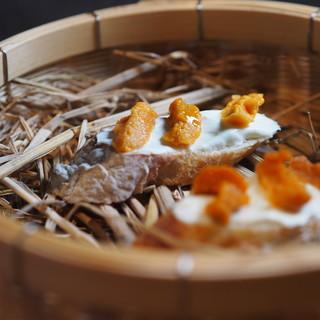 『日本食の再構築』11皿〜14皿の料理を用意