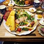 """Halleloo Garden - 料理写真:Bランチ""""ルイユフォカッチャW・野菜W"""""""