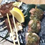 博多野菜巻き串 餃子 きじょうもん - 牛たん巻とプチトマト巻