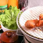 炭火焼肉ホルモン しんちゃん - マルチョウ一本焼