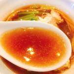 麺や豊 - ワンタンメン スープリフト