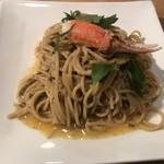 網元料理あさまる - カニ味噌パスタ