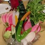 103321687 - こだわりの新鮮野菜のバーニャカウダ