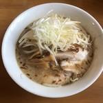 麺の蔵 - 味噌ラーメン。太麺で頼みました。