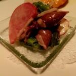 Karushifazuguriruaratosukana - ホタルイカと春野菜のサラダ