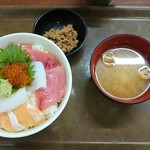 大遠会館 まぐろレストラン - 北海丼(ご飯大盛り)