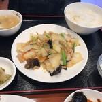 錦味坊 - 豚肉と白菜の中華炒め定食