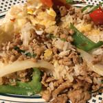タイレストラン Smile Thailand - ガパオライスを混ぜました。