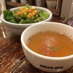 ハローエッグ - スープ、サラダ