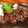 kushiagekicchimbiidoro - 料理写真:生食OK!希少部位。新鮮馬レバ刺し。あればラッキー