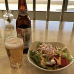 かすみキッチン - アサヒゼロとサラダ