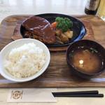 かすみキッチン - 蓮根豚トンテキステーキセット
