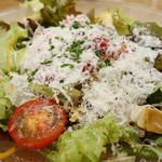 103354036 - 生ハムとパルミジャーノチーズのサラダ仕立て 1100円