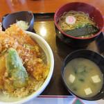 103356381 - 天丼セットと中華麺