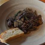 水のや - ミミイカとタケノコのスパゲッティ
