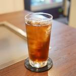 鉄板屋ゆずりは - ☆烏龍茶で乾杯です(^u^)☆