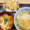 斎藤うどん店 - 料理写真:ひな玉うどんとミニ親子丼とごぼうのかきあげ