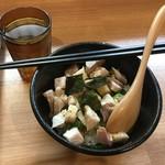 ばりかたya 鶏そば専門店 - 鶏チャーシュー丼