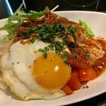 久喜バルカフェ - ダブル豆腐ハンバーグのロコモコ丼