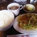 中國料理 萬来 - 肉野菜炒め 515円 ライスセット 210円
