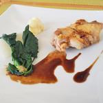 カーロ・エ・カーラ -  梅鶏モモ肉のロースト   柑橘とスパイス風味のバルサミコ