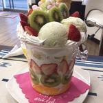 前橋菓子店 - 料理写真:メガずんだパフェ 税込2160円