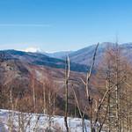 やぶはら高原山の家 - スキー場頂上からの眺め  遠くに北アルプスが見えます