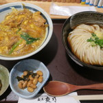 爽月 - 料理写真:カレー親子丼 ミニうどん付