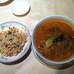 10338084 - 担々麺と五目チャーハン