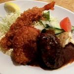 洋食の欧風軒 - エビフライ、コロッケ、ハンバーグ