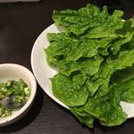 仙台ホルモン・焼肉 ときわ亭 - サンチュと青唐