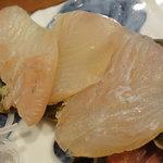 羽幌 鮨処 なか川 - ヒラメの昆布締め