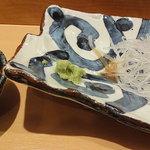 羽幌 鮨処 なか川 - ホタテをウニ醤油で