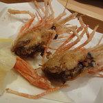 羽幌 鮨処 なか川 - ボタンエビ殻を唐揚げ