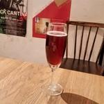 リングラッツェ - キールロワイヤル。写真、撮り忘れましたが、生ビールと赤ワイン(グラス)もいただきました。